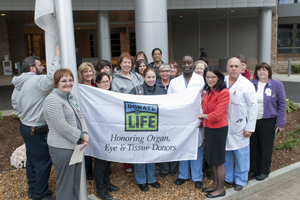 Donor Flag Raising